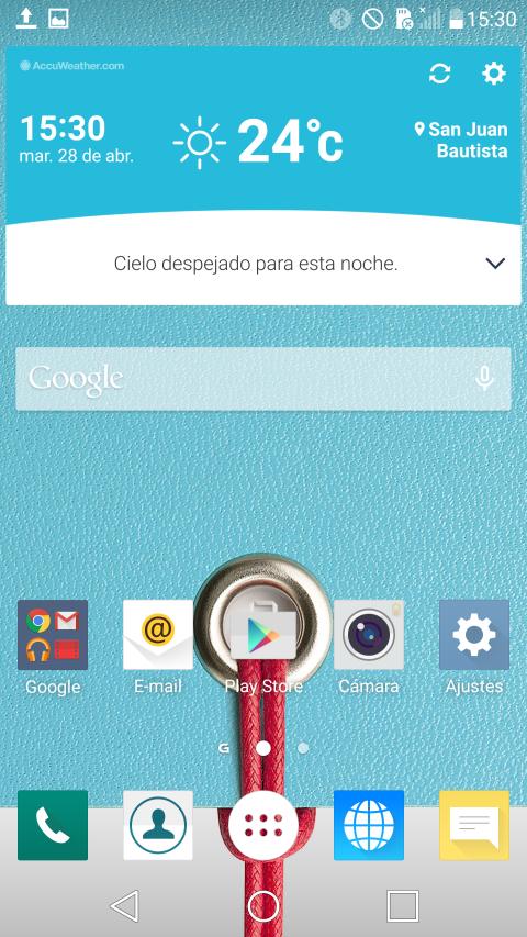 Capturas de pantalla LG G4