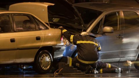 accidente coche e call