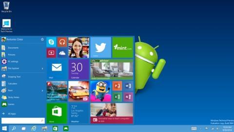 Windows 10 podría ejecutar apps de Android en PC y smartphones.