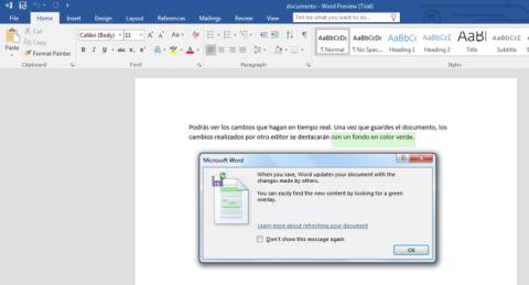 Office 2016 Preview ofrece funciones de trabajo colaborativo