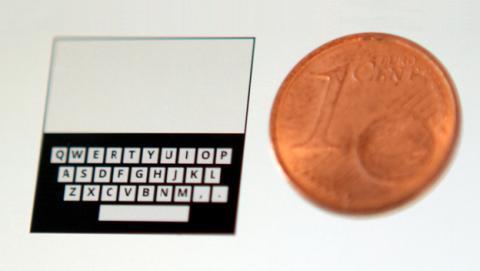 Desarrollan un teclado casi tan pequeño como un céntimo