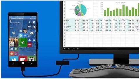 Microsoft Continuum convierte los móviles en un ordenador