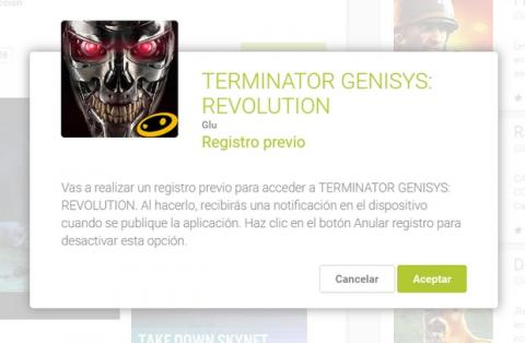 Google Play Registro Previo