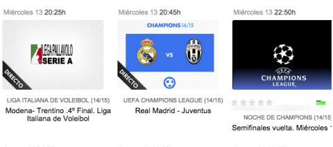 Real Madrid Juventus de Champions en Yomvi