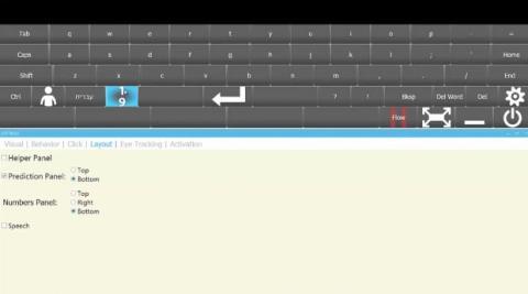 Así es Click2Speak para controlar el teclado con el movimiento de los ojos
