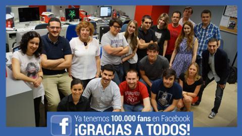 100 mil fans en Facebook
