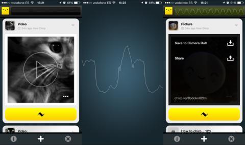 Chirp te permite enviar archivos desde tu móvil utilizando el sonido