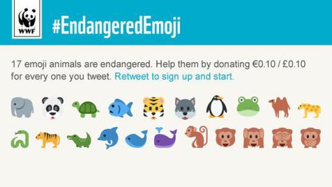 WWF lanza una campaña para salvar animales utilizando emojis