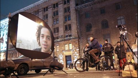 Bicycle Cinema, el cine portátil al aire libre... a pedales.