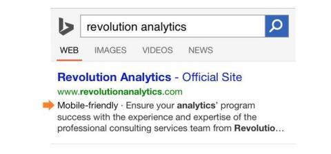Bing mostrará la etiqueta mobile-friendly en las búsquedas móviles