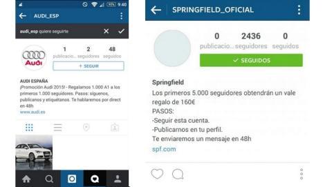 Cuidado con las falsas promociones de marcas en Instagram.