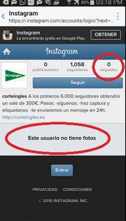 Estafas en Instagram