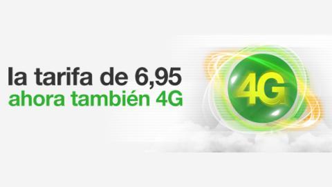 La tarifa de 6,95 euros de amena.com incorporará 4G en junio