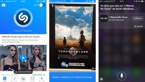 Nuevas opciones de Shazam: reconocimiento de imágenes y asistente de voz