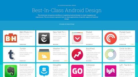 Google elige las mejores apps con Material Design.