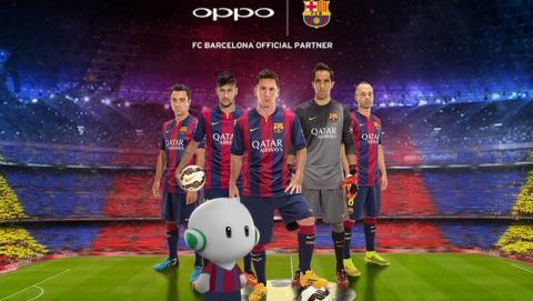 Oppo patrocinará al F.C. Barcelona los próximos tres años.