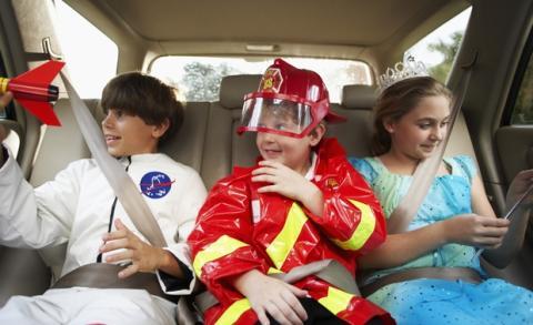 Los niño que viajan en el asiento del medio tienen más éxito