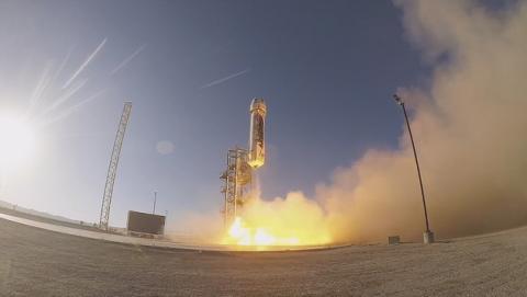 El fundador de Amazon y Blue Origin pone en órbita su primer cohete espacial, el New Shepard.