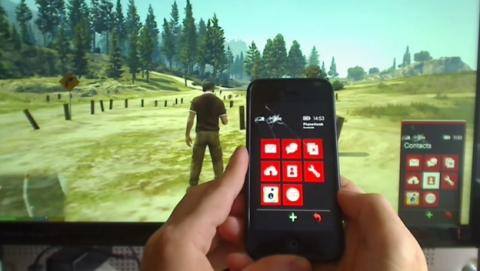 Hack de GTA V permite controlar el movil con un iPhone real.