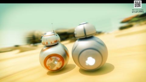 Apple y Jar Jar Binks se cuelan en Star Wars VII El Despertar de la Fuerza.