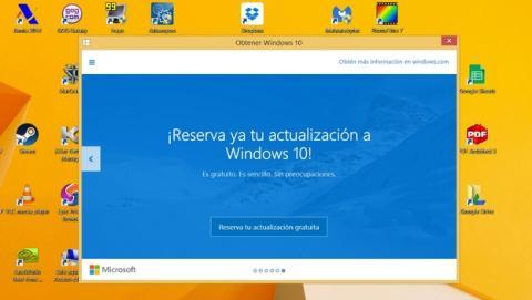 Ya puedes reservar la actualización gratuita de Windows 10.