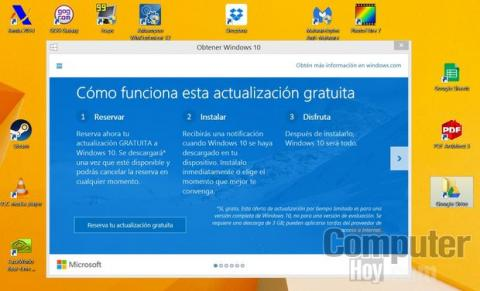 Reservar actualización Windows 10