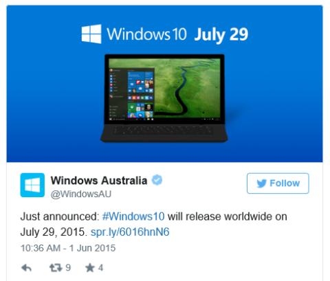 fecha lanzamiento windows 10