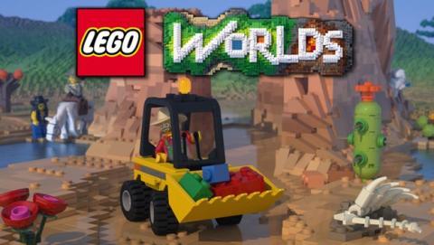 Lego planta cara a Minecraft con Lego Worlds.