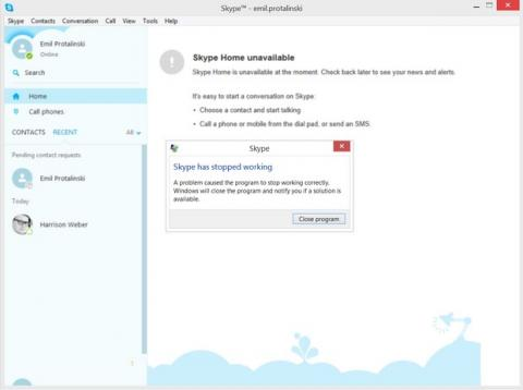 Bloquear Skype con un mensaje