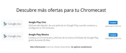 Chromecast alquiler de película gratis