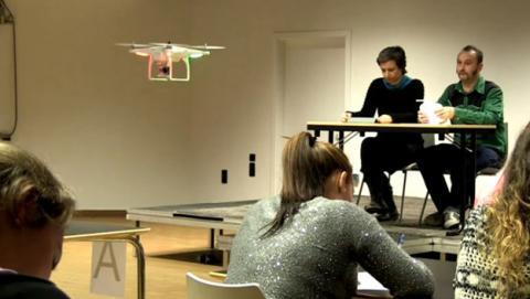 drones vigilar examenes