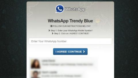 Cuidado con el WhatsApp azul, ¡es una estafa!