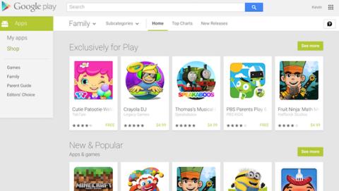 Nueva sección en la Google Play Store