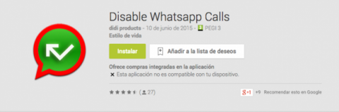 Disable Whatsapp Calls