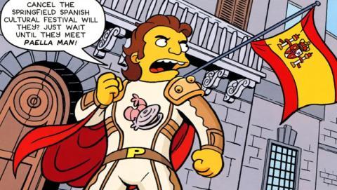 Paella Man, el nuevo superhéroe español de Los Simpson