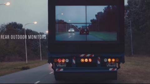 Camiones de Samsung con pantallas traseras que salvan vidas, ¿para qué sirven?