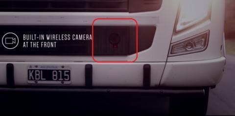 Camiones Samsung con pantalla trasera