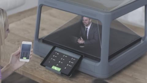 Dispositivo convierte contenidos digitales en hologramas 3D