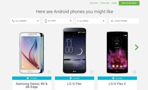 Guia interactiva para elegir móvil