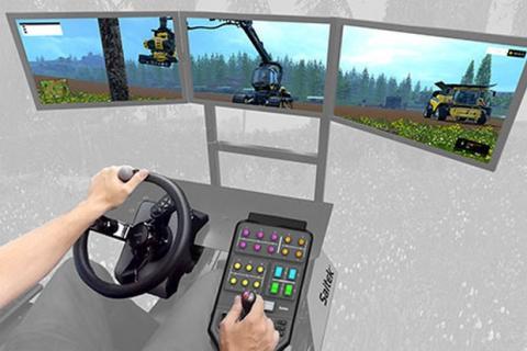 volante tractor Saitek