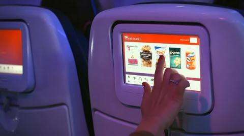 Tablets en los vuelos de Virgin America