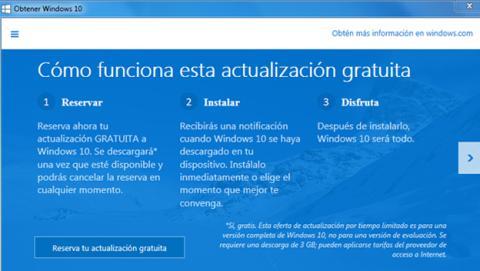 Cómo forzar la notificación de reserva de Windows 10