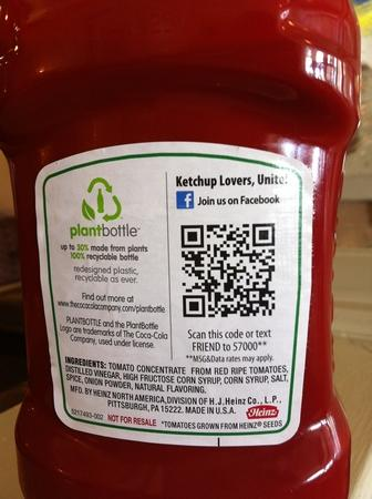 Codigo QR pornográfico ketchup Heinz