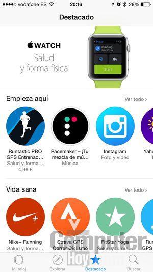 El Apple Watch tiene un gran catálogo de aplicaciones disponibles.