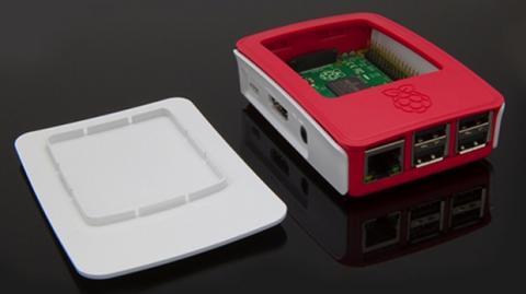 Carcasa oficial Raspberry Pi