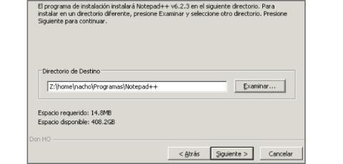 Instalación Notepad