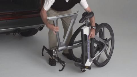 MoDe Flex, la bici inteligente de Ford que se parte en dos (vídeo).
