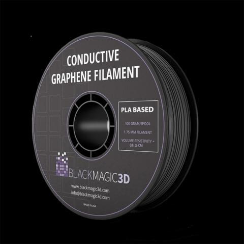 Filamento de grafeno con capacidad conductiva para imprimir productos electrónicos.