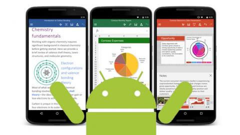Las apps de Office llega por fin a la Play Store de Android