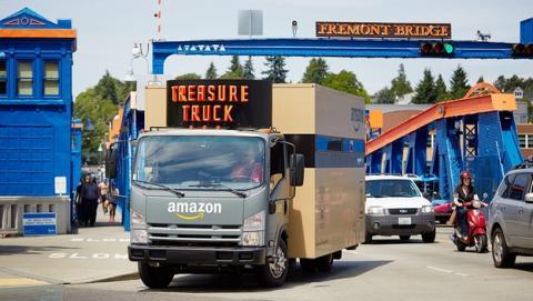 El Camión del Tesoro de Amazon venderá filetes por las calles.